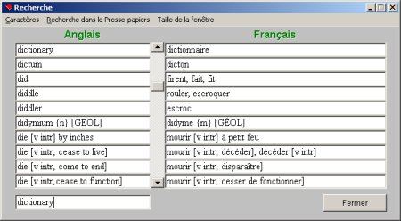 dictionnaire freelang